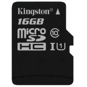 MicroSD 16 Gb Kingston UHS-1 10 Class 45MBs (без адаптера)