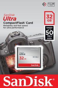 CompactFlash 32 Gb SanDisk Ultra 50 Mb-s