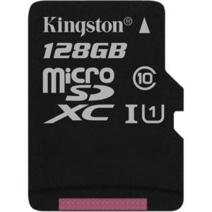 MicroSD 128 Gb Kingston UHS-I 45MBs (без адаптера)