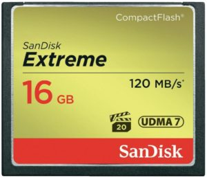 CompactFlash 16 Gb SanDisk Extreme 12060MBs