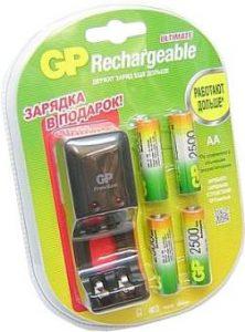 GP PB330GS250-2CR4 + 4 AA 2500mAh