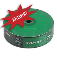 dvd+r INTRO 8-х (уп. 25 шт.) двухслойный