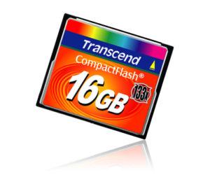 CompactFlash 16 Gb Transcend  133x