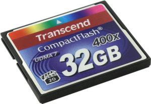 CompactFlash 32 Gb Transcend  400x