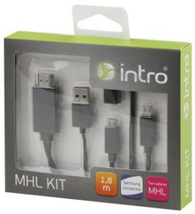 Intro MHL кабель с адаптером под Samsung 1.8m