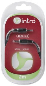 Intro jack3.5 вилка - jack3.5 вилка  2 м (блистер)