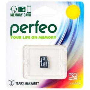 MicroSD 8 Gb Perfeo HC 4 Class (без адаптера)