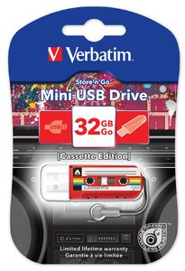 Verbatim 32 Gb Mini Cassette Edition Red