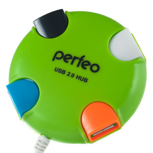 Perfeo PF-VI-H020 + HUB 4 Port green