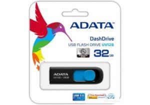 A-Data 32 Gb UV128 black-blue