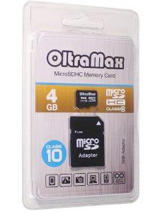 MicroSD 4 Gb OltraMax HC 10 Class
